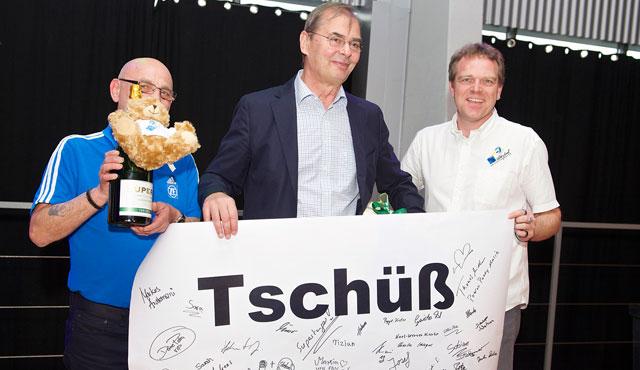 Häfler verabschieden Moculescu - Foto: Günter Kram