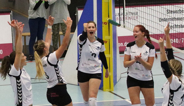 Volleyball-Team Hamburg gewinnt Pokalfight in Köln - Foto: VTH/Lehmann