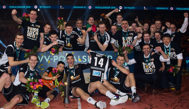 Die BR Volleys sind Pokalsieger 2016 - Foto: Conny Kurth