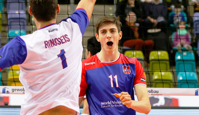 Ehrung erfolgreicher Schülersportler beim Bundesligaspiel - Foto: United Volleys/Gregor Biskup