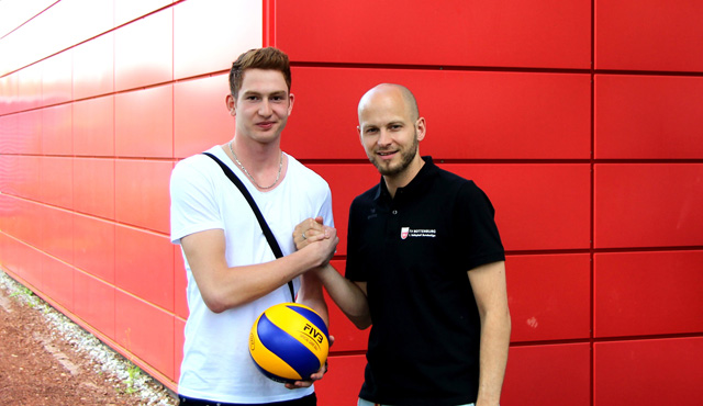 Tim Grozer, jüngster Sprössling von Volleyball-Legende Georg Grozer<br>Foto: TV Rottenburg