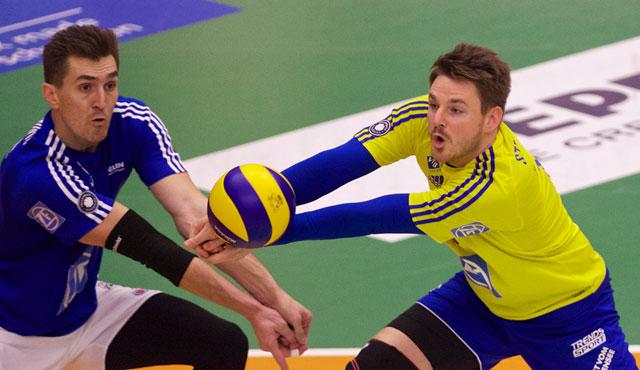 Libero Markus Steuerwald ist gut vorbereitet auf das Spiel gegen Herrsching und seinen Bruder<br>Foto: Günter Kram