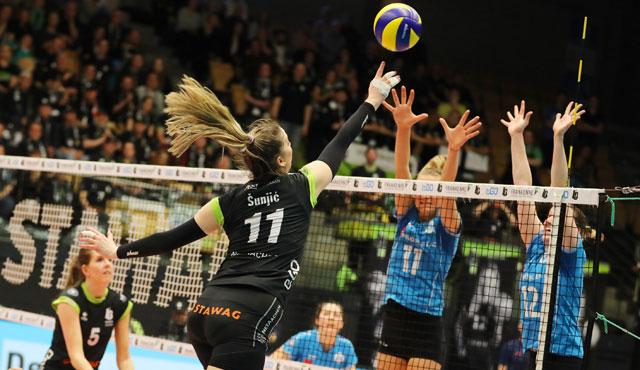 Ladies in Black Aachens großes Halbfinal-Heimspiel in Maaseik - Foto: Ladies Black Aachen // Andreas Steindl
