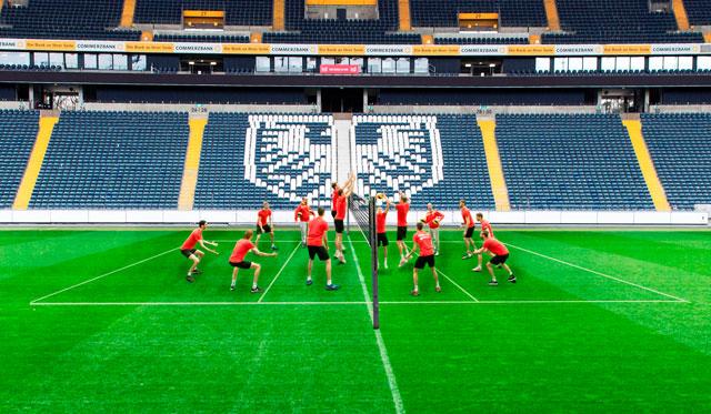 Commerzbank Arena als Ausweichquartier für mögliches Finale - Foto: United Volleys/Manfred Neumann