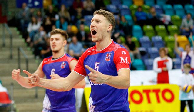 Stehen Adrian Aciobanitei und Lukas Bauer gegen Herrsching wieder in der Startsechs? <br>Foto: United Volleys/Gregor Biskup