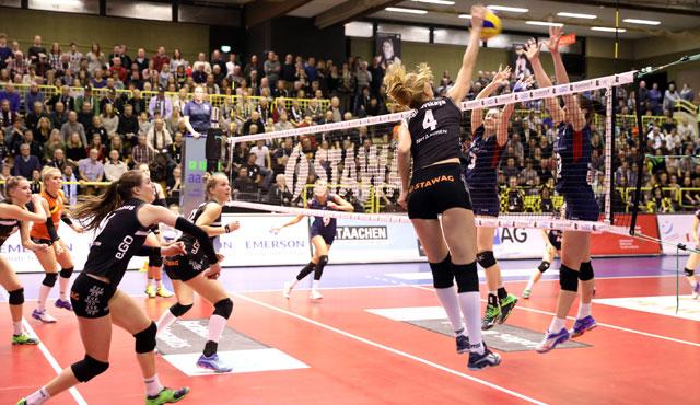 Zwei Spiele innerhalb von 21 Stunden für die LiB gegen Suhl und Berlin - Foto: Ladies in Black Aachen