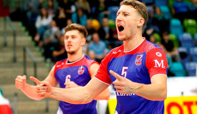 Ady Aciobanitei und Lukas Bauer hoffen auch 2017/18 auf reichlich Fan-Unterstützung in Rüsselsheim und Frankfurt<br>Foto: United Volleys/Gregor Biskup