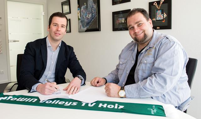 proWIN Winter GmbH auch in der Saison 2015/2016 Haupt- und Namenssponsor der  proWIN Volleys TV Holz - Foto: proWIN, Eric Thoma