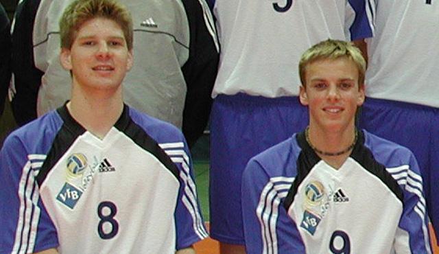 Sebastian Schwarz und Patrick Steuerwald trugen von 2002 bis 2004 das YoungStars-Trikot und spielen nächste Saison zusammen bei den United Volleys in Frankfurt<br>Foto: Gunthild Schulte-Hoppe