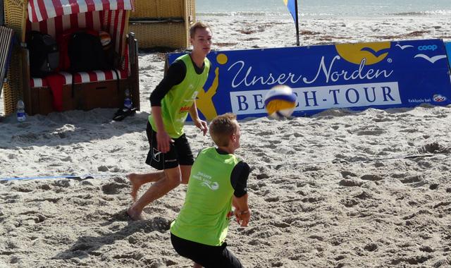 Krifteler Zwillinge 9. Bei der U19 Beach DM - Foto: Johannes Thiel