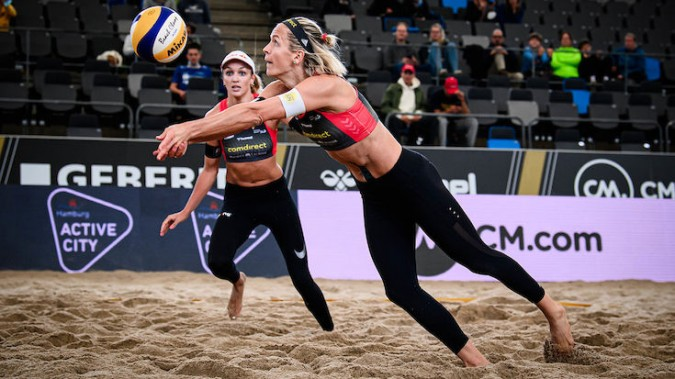 Laura Ludwig steht mit Anouk Vergé-Dépré im Habfinale.<br>Foto: Conny Kurth