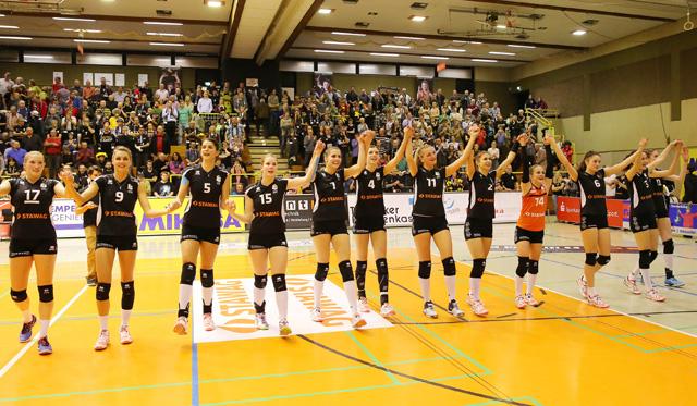 Starker Aufsteiger Straubing fordert den Aachenerinnen alles ab - Foto: Ladies in Black Aachen