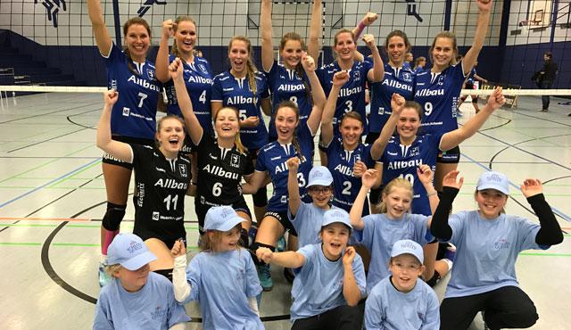 VC Allbau Essen  - Dritter Sieg im dritten Spiel. Aufsteiger übernimmt Tabellenführung - Foto: VC Allbau Essen