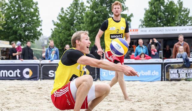 #RotesRudel Beachteam Bergmann / Harms beim smart cup in Nürnberg am Start - Foto: kurt meyer-bergmann