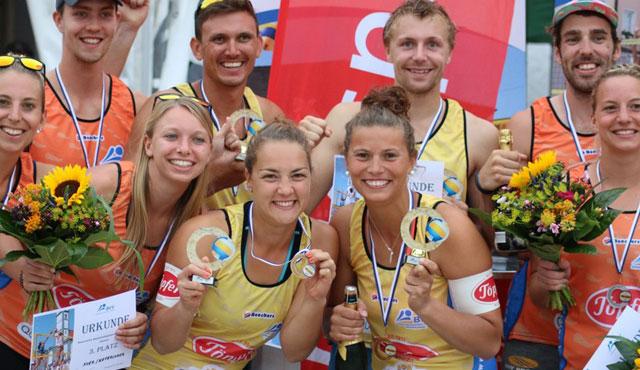 Marion Mirtl und Fabian Wagner wertvollste Spieler der Bayerischen Beachvolleyball Meisterschaft - (Foto: Nils Koepke, streaming-press