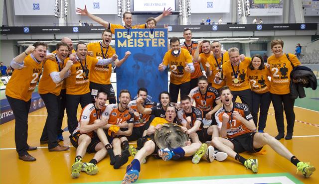 Last Minute Titel für die BR Volleys - Foto: Günter Kram www.ggkram.de