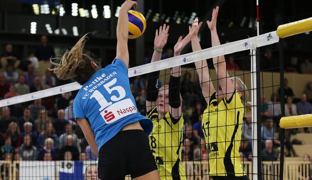 Volleyball-Highlight zu Ostern: VCW muss in den Playoffs gegen Münster siegen - Foto: Detlef Gottwald