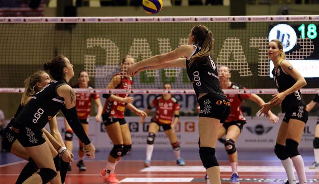 1:3 gegen den Meister: Ladies in Black Aachen trotzen Dresden einen Satz ab - Foto: Ladies in Black