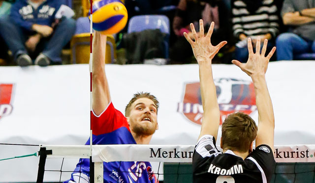 Durchschlagkräftiger Punktegarant und wichtige Identifikationsfigur im Team der United Volleys: Christian Dünnes<br>Foto: United Volleys/Gregor Biskup