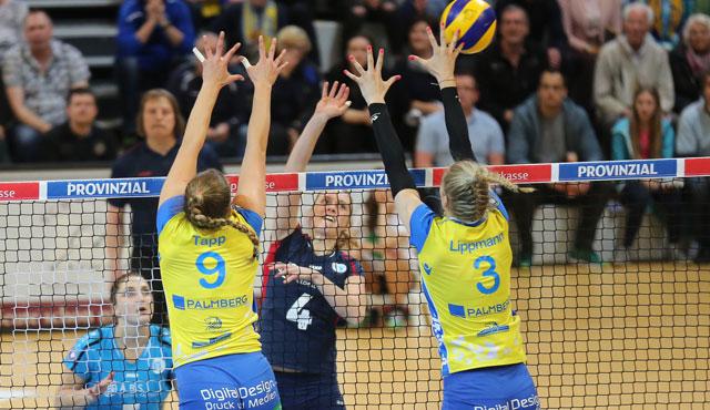 Niederlage in Schwerin - VCW verliert das erste Playoff-Halbfinale - Foto: Detlef Gottwald