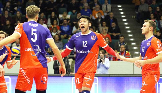 Yokohammer oder Lincolns Linke? - Foto: United Volleys/Gregor Biskup