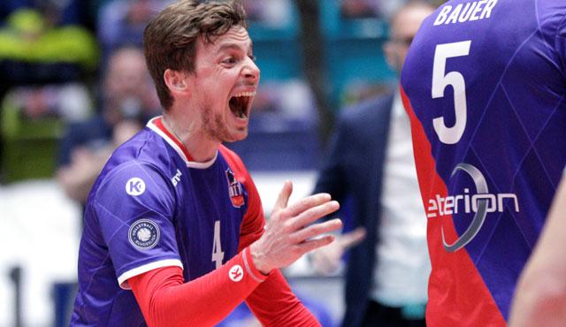 Am Mittwoch gegen Berlin kann Patrick Steuerwald sein Team nur von außen anfeuern<br>Foto: United Volleys/Gregor Biskup