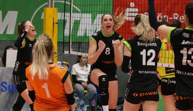 Aachen kontrollierte die Partie gegen den VfB Suhl Lotto Thüringen - Foto: Ladies in Black