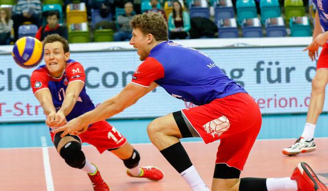 Zwei Garanten für den Erfolg gegen Herrsching: Jan Zimmermann und Lukas Bauer<br>Foto: United Volleys/Gregor Biskup