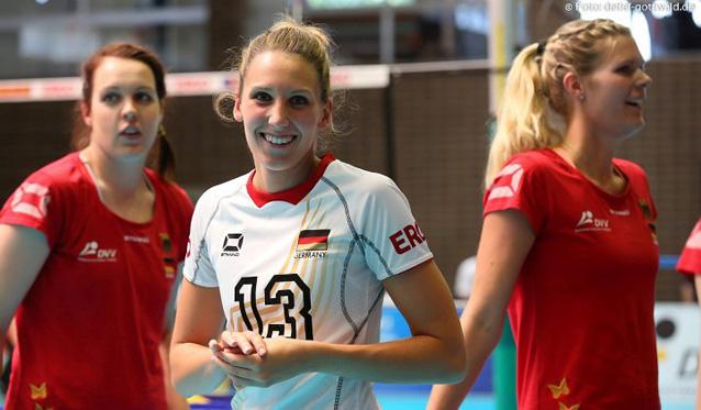 VCW-Mittelblockerin Jennifer Pettke spielt ab Mitte Mai wieder für die Deutsche Nationalmannschaft<br>Foto: Detlef Gottwald