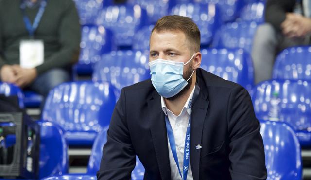 Thilo Späth-Westerholt beim Pokalaus gegen die United Volleys Frankfurt <br>Foto: Kram