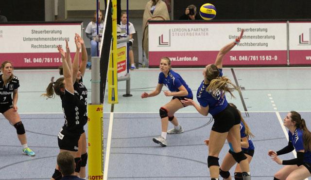 Volleyball-Team Hamburg verliert beim SCU Emlichheim - Foto: VTH/Lehmann