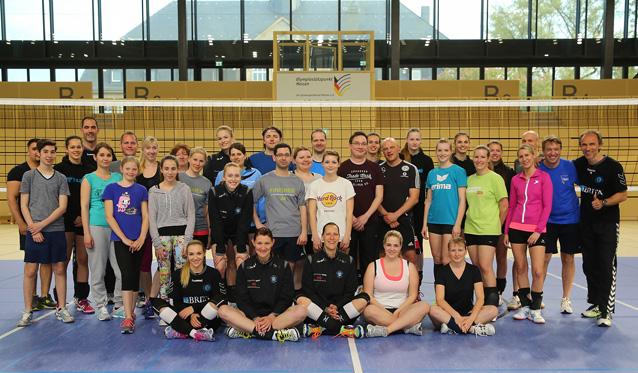 Die erfolgreiche Partnerschaft von VC Wiesbaden und ESWE Verkehr wird auch sportlich gelebt - Foto: Detlef Gottwald