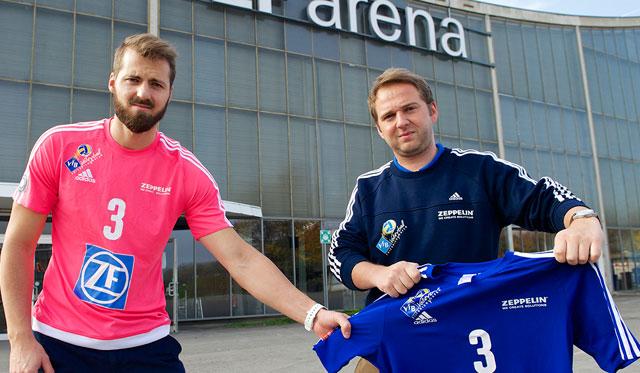 Thilo Späth-Westerholt will sein blaues Trikot haben - doch das gibts erst, wenn die Halle ausverkauft ist<br>Foto: Günter Kram