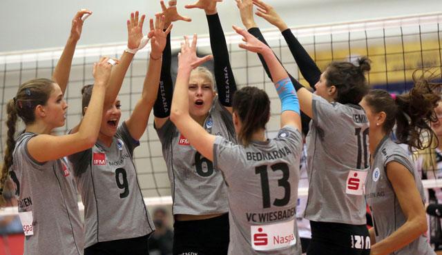 VC Wiesbaden zieht ins Pokal-Viertelfinale ein - Foto: Detlef Gottwlad