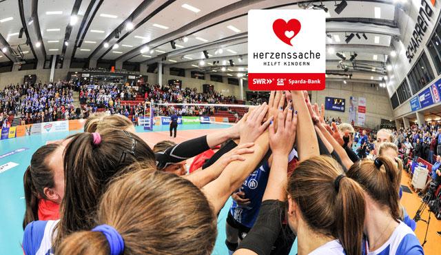 Volleyball zu spielen ist Herzenssache - Kindern zu helfen auch - Foto: Allianz MTV Stuttgart