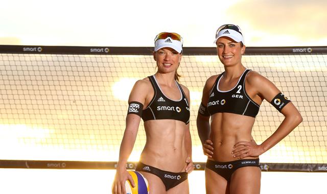 der Beachvolleyball-Nationalspielerinnen Katrin Holtwick und Ilka Semmler<br>Foto: HochZwei/Jürgen Tap