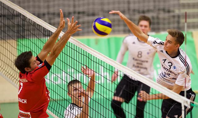 Nur ein Satz trotz viel Einsatz - Häfler YoungStars steigern sich im Spielverlauf - Foto: Günter Kram