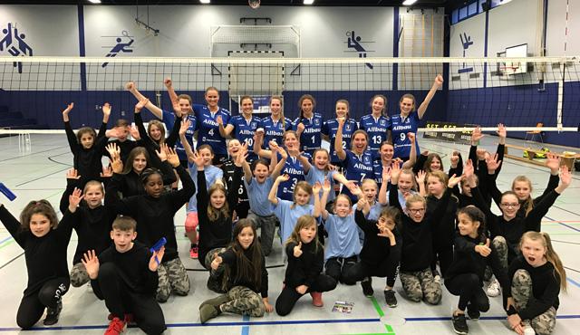 VC Allbau Essen schleicht mit fast perfektem Heimsieg in Richtung Aufstiegsspiele - Foto: VC Allbau Essen