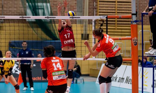 Corina Ssuschke-Voigt wurde zur besten Spielerin von NawaRo beim Auswärtsspiel in Köpenick gewählt<br>Foto: Schindler