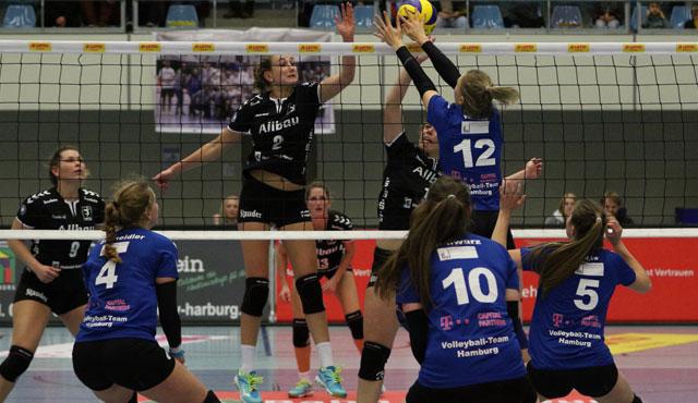 Volleyball-Team Hamburg verliert im Tie-Break beim VC Allbau Essen  - Foto: VTH/Lehmann