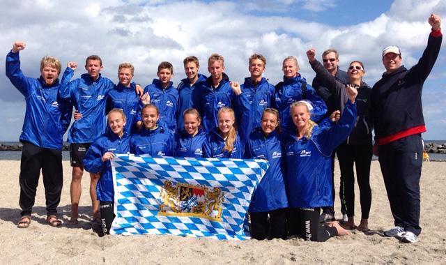 Bayerns Beachvolleyball-Talente buddeln zwei Medaillen aus dem Sand von Damp - Foto:pr