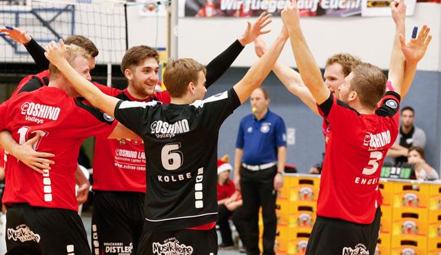 Eltmanner Volleyballer blicken cool in die kommende Saison - Foto: Frank Heumann, Ebersdorf, freier Abdruck zu diesem Artikel