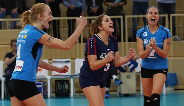 Spannender Europapokalabend: VCW kämpft um Einzug ins Viertelfinale - Foto: Detlef Gottwald