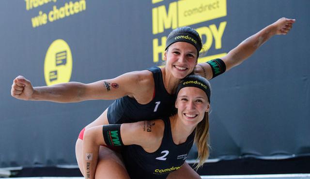 Ins Halbfinale geflogen: Sandra Ittlinger/Chantal Laboureur<br>Foto: Conny Kurth