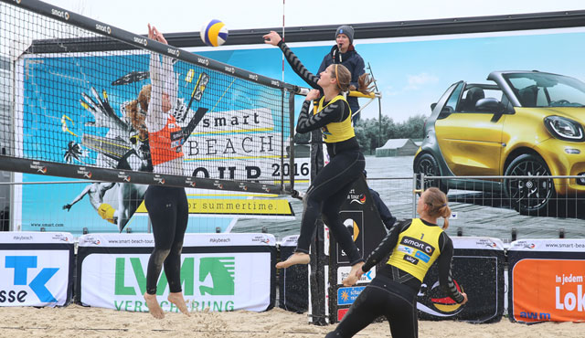 NawaRo Beach-Team wird Siebter in Dresden - Foto: hoch-zwei, smart-beach-tour.tv