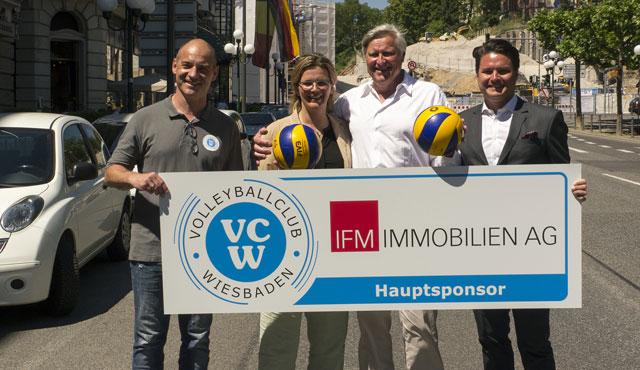 IFM Immobilien AG wird neuer Hauptsponsor des VC Wiesbaden - Foto: VCW
