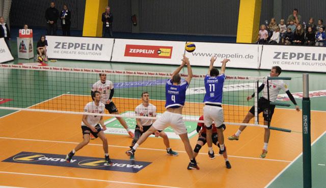 TVR verliert den Saisonauftakt in Friedrichshafen mit 3:0  - Foto: Moritz Liss
