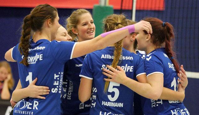 Spitzenspiel für den VC Allbau Essen in der Sporthalle Bergeborbeck - Foto: Michael Gohl