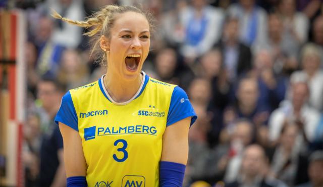 Zurück beim SSC PALMBERG Schwerin in der Volleyball Bundesliga: Louisa Lippmann<br>Foto: Eckhard Mai