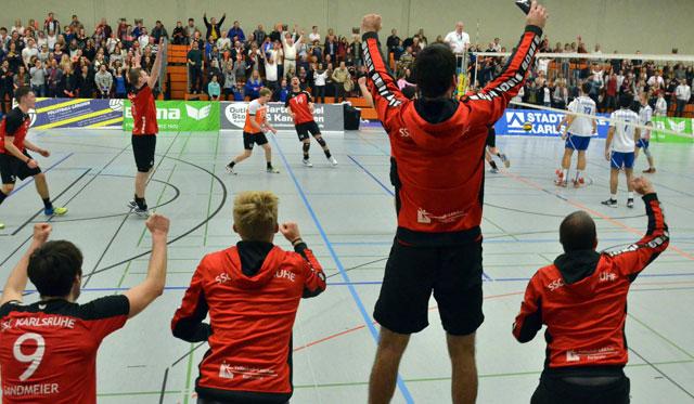 SSC Karlsruhe beendet mit Volleyball-Party die erste Drittliga-Saison - Foto: SCC